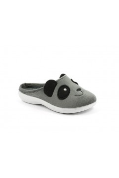 Inblu B9 30 Pantofole Bambino in Panno Ricamo Grigio Scarpe Bambino B930GRI