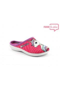 Inblu B9 31 Pantofole Bambina in Panno Unicrono Fuxia Scarpe Bambina B931FUX