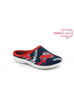 Inblu B9 33 Pantofole Bambino in Panno Cars Blu Scarpe Bambino B933BLU