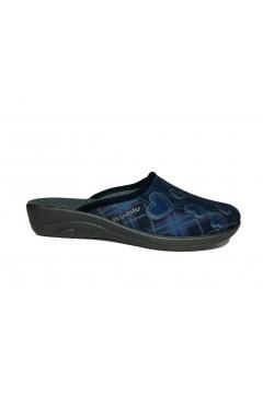 Inblu 5D 14 Pantofole Donna Basic in Panno Cuori Blu Ciabatte e Infradito 5D14BLU