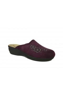Inblu BJ 109 Pantofole Donna in Panno Plantare in Pelle Prugna Ciabatte e Infradito BJ109PRU