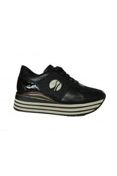 Inblu IN233 Scarpe Donna Sneakers Platform Stringate Memory Foam Nero Francesine e Sneakers IN233NR