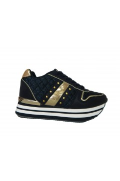 Laura Biagiotti 6404 Scarpe Donna Sneakers Platform Blu Gold  Francesine e Sneakers L6404BLU