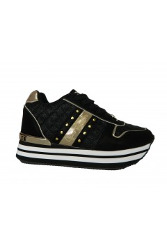 Laura Biagiotti 6404 Scarpe Donna Sneakers Platform Nero Gold  Francesine e Sneakers L6404NR