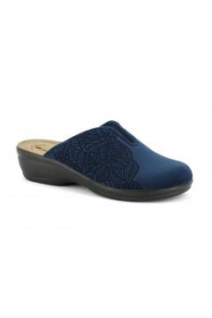 Inblu BJ 111 Pantofole Donna in Panno Plantare in Pelle Blu Ciabatte e Infradito BJ111BLU