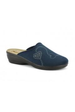 Inblu BJ 113 Pantofole Donna in Panno Plantare in Pelle Blu Ciabatte e Infradito BJ113BLU