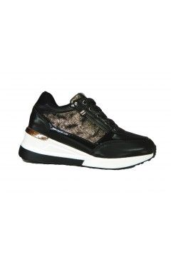 Laura Biagiotti 6419 Scarpe Donna Sneakers Zeppa Media Nero  Francesine e Sneakers L6419NR