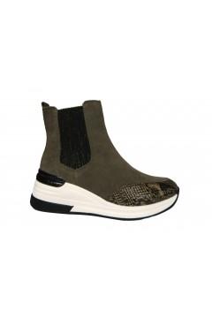 KEYS K 2502 Scarpe Donna Sneakers Mid Stivaletti Camoscio Snake Taupe Francesine e Sneakers K2502SAT