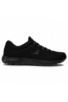 SKECHERS 12985 BBK Quick Lapse Sneakers Slip On Lacci Elastici Nero Francesine e Sneakers 12985BBK