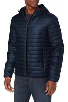 Geox M0421J Wilmer Hood Jacket Giubbotto Uomo 100 gr con Cappuccio Blu  Giacche M0421JT2606F4386