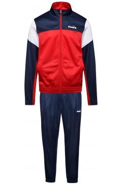 Diadora 102.176468 Cuff Suit Core Tuta Completa Uomo In Acetato Tango Red Tute 102.17646845046