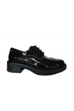XTI 44393 Scarpe Donna Stringate in Vernice Nero Francesine e Sneakers X44393NR