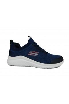 SKECHERS 52765 NVRD Fedik Scarpe Uomo Sneakers Slip On Lacci Elastici Blu Scarpe Sport 52765NVRD