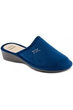 Tiglio 1600 Pantofole Donna in Panno Blu Ciabatte e Infradito T1600BLU