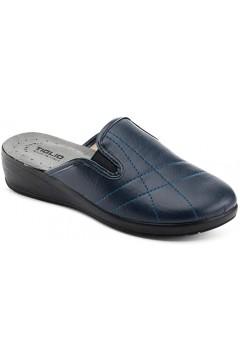 Tiglio 2265 Pantofole Donna Doppi Elastici Blu  Ciabatte e Infradito T2265BL