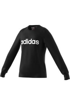Adidas EH6157 YG E Linear Sweat Felpa Girocollo Unisex Cotone Garzato Nero Abbigliamento Bambino EH6157