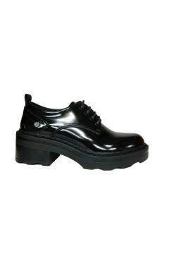 XTI 44408 Scarpe Donna Stringate Abrasivato Nero Francesine e Sneakers X44408NR