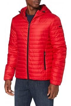 Geox M0421J Wilmer Hood Jacket Giubbotto Uomo 100 gr con Cappuccio Rosso  Giacche M0421JT2606F7176