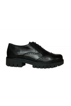 The Flexx E2056 10 Brocklin Amalfi Scarpe Donna Stringate in Vera Pelle Nero Francesine e Sneakers E205610PNR