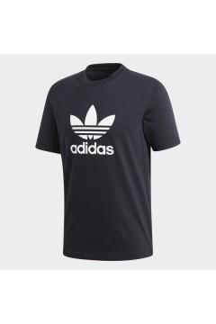 Adidas CW0709 T-Shirt Uomo Trefoil Nero T-Shirts CW0709