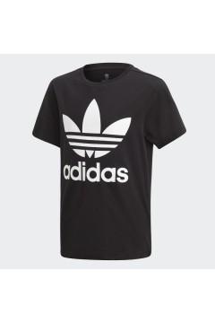 Adidas DV2905 T-Shirt Trefoil per Bambini Unisex Nero Abbigliamento Bambina DV2905