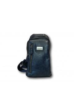 Coveri Collection C5052-6 Tracolla Uomo Monospalla 3 Zip Blu Borse e Tracolle C50526BL