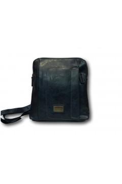 Coveri Collection C5052-3 Tracolla Uomo Media con Zip Blu Borse e Tracolle C50523BL