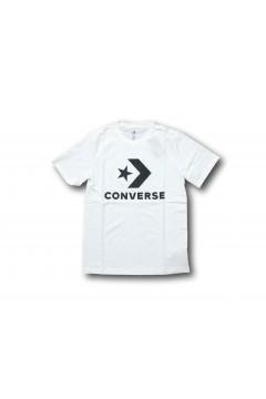 Converse 10018568 Tshirt Uomo Star Chevron Bianco T-Shirts 10018568A02