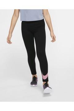 Nike AR4076 014 Leggings Bambina in Cotone Elasticizzato Nero Rosa  Abbigliamento Bambina AR4076014