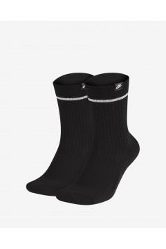 Nike SX7166 010 Sneakr Sox 2 paia di Calze Medie Unisex Nero Abbigliamento Sportivo SX7166010