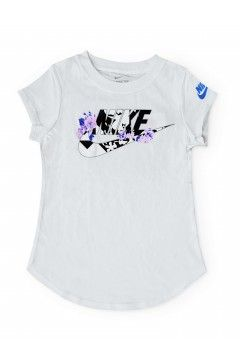 Nike 36G920 001 T-Shirt Bambina Logo Flowers  Abbigliamento Bambina 36G920001