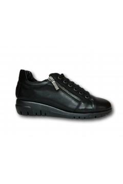 The Flexx F2084 10 Clotilda Scarpe Donna Stringate in Vera Pelle Nero Francesine e Sneakers F208410CNR
