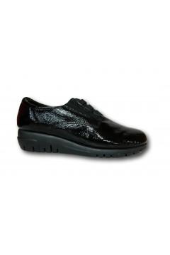 The Flexx F2084 06 Acacia Scarpe Donna Slip On Lacci Elastici in Vernice Nero Francesine e Sneakers F208406ANR