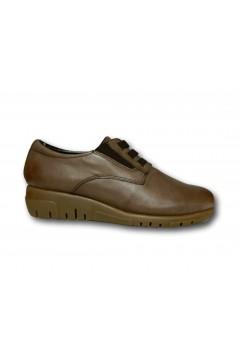 The Flexx F2084 06 Acacia Scarpe Donna Slip On Lacci Elastici in Vera Pelle Marrone Francesine e Sneakers F208406AMR