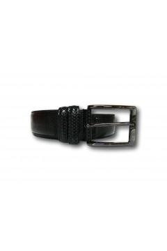 Made in Italy 035 Cintura Uomo 3,5 cm in Pelle Lucida Puntinata Nero Cinture RF035PNR