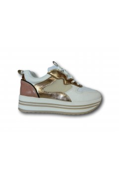 Gallo Shoes - Fortaleza Sneakers Stringate Platform Bianco Nude Francesine e Sneakers GFORTBN