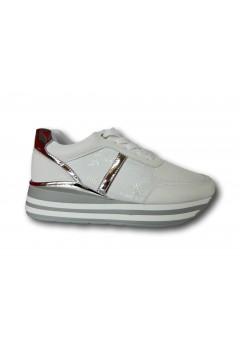Gallo Shoes - Flint Sneakers Stringate Platform Bianco Francesine e Sneakers GFNTBN