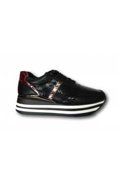 Gallo Shoes - Flint Sneakers Stringate Platform Nero Francesine e Sneakers GFNTNR