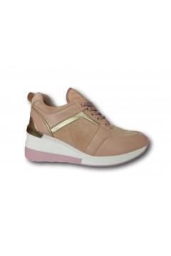 Gallo Shoes - Fredrika Sneakers Stringate Zeppa Media Rosa Francesine e Sneakers GFRDRKRS