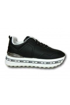Gallo Shoes - Fargo Sneakers Stringate Platform Nero Francesine e Sneakers GFRGNR