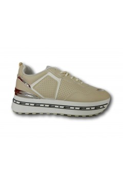 Gallo Shoes - Fargo Sneakers Stringate Platform Beige Francesine e Sneakers GFRGBG