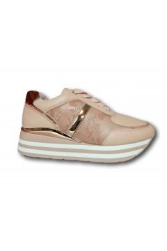 Gallo Shoes - Flint Sneakers Stringate Platform Rosa Francesine e Sneakers GFNTRS