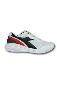 Diadora Eagle 4 Scarpe da Running Uomo Stringate White Black Red Scarpe Sport 17688801C8021