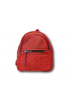 Sagace Collection 2351 Borsa Donna Zaino Borchie Rosso Borse SC2351RS