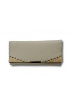 Sagace Collection 8768 Portafogli Donna Bottone Magnetico Cocco Beige Borse SC8768BEI