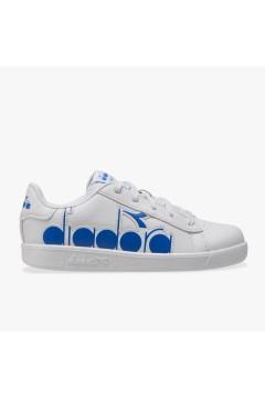 Diadora Game P Bolder GS Sneakers Stringate Bianco Micro Blue Scarpe Bambino 10117627401C2992