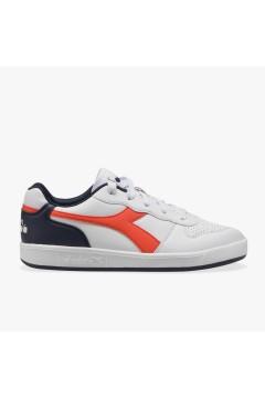 Diadora Playground GS Sneakers Stringate Bianco Blu Orange Scarpe Bambino 10117330101C9167
