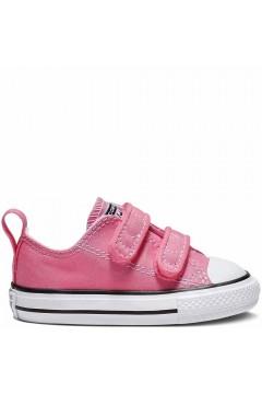 Converse 709447C CT 2V Ox Sneakers Bambina Low Doppio Strappo Rosa Scarpe Bambina 709447C