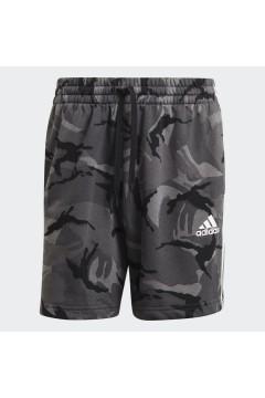 Adidas GK9623 Short Uomo Essential French Terry Camouflage Grigio Pantaloni e Shorts GK9623