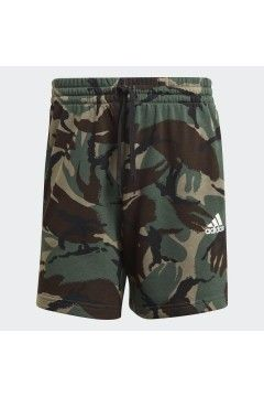 Adidas GK9621 Short Uomo Essential French Terry Camouflage Verde Pantaloni e Shorts GK9621